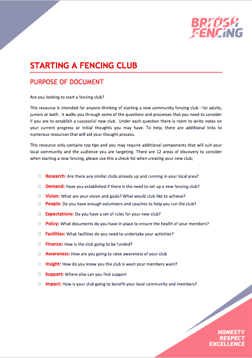 But Theyre Only 12 Why And How To Begin >> Starting A Club British Fencing