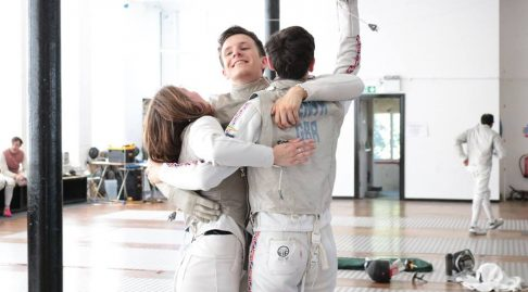 Winner of the Teamwork Category in British Fencing Image of the Year 2018