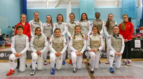 The female foil squad GBR 2018